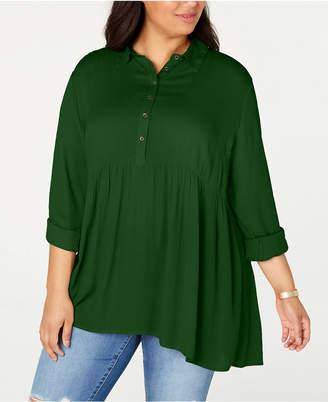 Style&Co. Style & Co Plus Size Babydoll Shirt