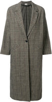 Masscob oversized checked coat