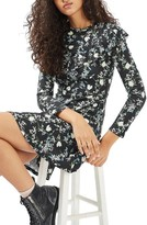 Topshop Women's Floral Ruffle Minidress