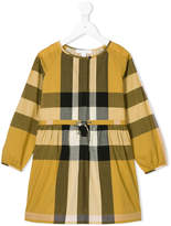 Burberry checked belted dress