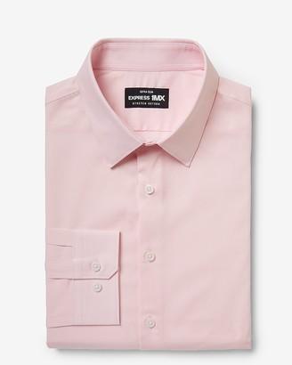 Express Extra Slim Solid Cotton Stretch 1Mx Dress Shirt