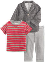 First Impressions 3-Pc. Blazer, T-Shirt & Pants Set, Baby Boys (0-24 months), Created for Macy's
