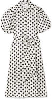 Lisa Marie Fernandez Polka-dot Linen Midi Dress - White