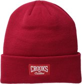 Crooks & Castles Men's Knit Beanie-Core Logo