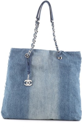 Chanel Open Shopping Tote Degrade Denim Medium