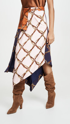 Jonathan Simkhai Saddle Print Handkercheif Skirt