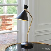 The Well Appointed House Global Views Bronze and Brass Cone Desk Lamp