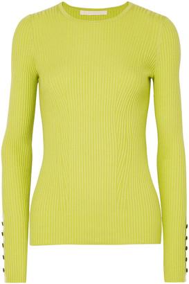 Jason Wu Ribbed Cashmere And Silk-blend Sweater
