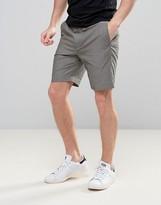 Asos Tailored Slim Seersucker Shorts In Charcoal