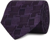 Pal Zileri Purple Geometric-jacquard Silk Tie