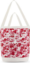 A Bathing Ape Ape Camouflage Cotton Shoulder Tote