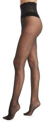 Commando Sexy Sheer Lace-Waist Tights