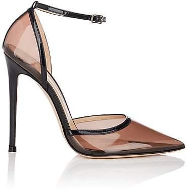 Gianvito Rossi Women's Sabin PVC & Patent Leather Ankle-Strap Pumps - Black