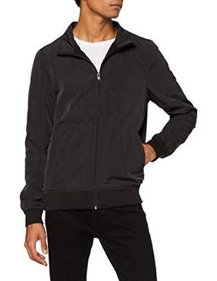 Urban Classic Men's Nylon Training Jacket (Black 7), S