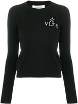 Valentino jacquard V logo jumper