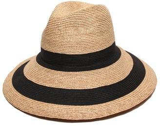 Gottex Women's Newport Raffia/Toyo Fedora Sun Hat Rated UPF 50+ for Max Sun Protection