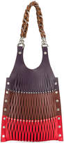 Sonia Rykiel perforated colour block tote