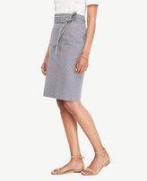 Ann Taylor Home Skirts Seersucker Paper Bag Skirt Seersucker Paper Bag Skirt