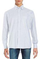 Brioni Plaid Button-Up Shirt