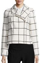 Tommy Hilfiger Windowpane Asymmetrical Jacket