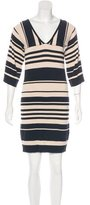 Trina Turk Striped Knee-Length Dress