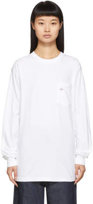 Noah NYC White Pocket Long Sleeve T-Shirt