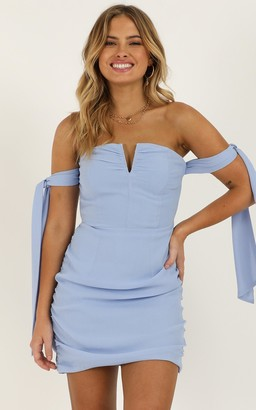 Showpo Feeling Cute Dress in light blue - 4 (XXS) Dresses