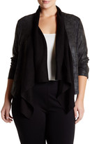 Jessica Simpson Cameron Drape Collar Jacket (Plus Size)