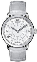 88 Rue du Rhone Ladies' Double 8 Origin White Leather Watch with Diamonds