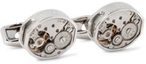 Tateossian Skeleton Vintage Window Rhodium-Plated Cufflinks