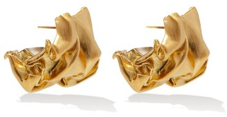 COMPLETEDWORKS Crunched 14kt Gold-vermeil Earrings - Yellow Gold