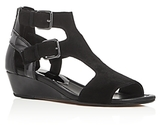 Donald J Pliner Eden Patent Leather Demi Wedge Sandals