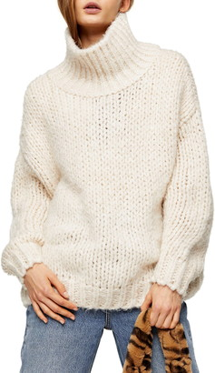 Topshop Chunky Funnel Sweater