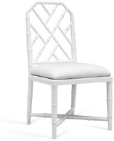 The Well Appointed House Bungalow 5 Jardin Faux Bamboo Lattice Side Chair in White