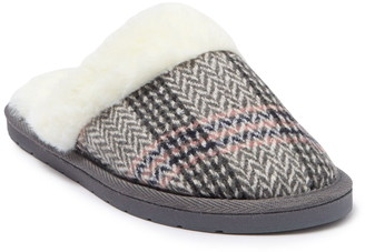Kensie Plaid Knit Slipper