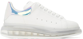 Alexander McQueen White Oversized Transparent Sole Sneakers