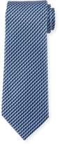 Ermenegildo Zegna Dot in Circle Silk Tie, Blue
