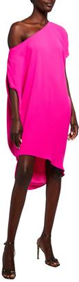 Trina Turk Radiant Off-the-Shoulder Silky Satin Dress