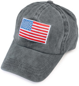 Riah Fashion American Flag Embroidered Cap