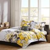 Bed Bath & Beyond Mizone Allison Reversible Full/Queen Comforter Set in Yellow/Grey