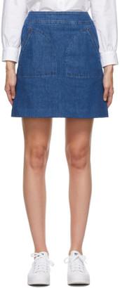 A.P.C. Blue Denim Shanya Miniskirt