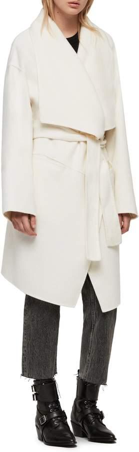AllSaints Adalee Wool Blend Coat