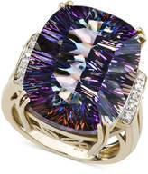 Macy's 14k Gold Ring, Mystic Topaz (11 ct. t.w.) and Diamond Accent