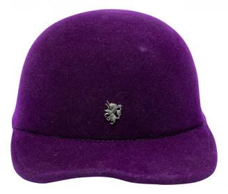 Philip Treacy Purple Wool Hats