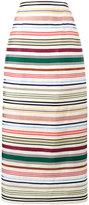 Rosie Assoulin Ribbon Rainbow stripe skirt