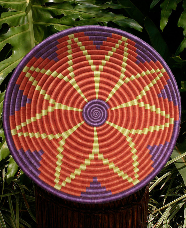 "Rwanda Basket, 12"" Burst of Joy Fruit Bowl"