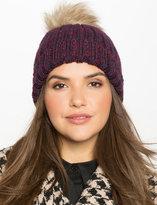 ELOQUII Plus Size Faux Fur Pom Pom Hat