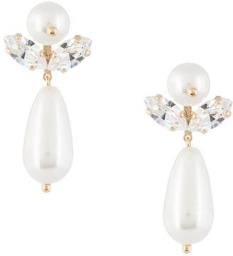 Simone Rocha Drop Pearl Earrings