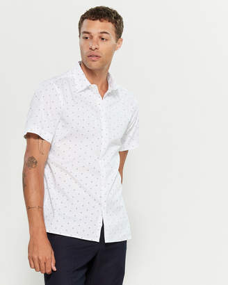 Perry Ellis Short Sleeve Abstract Diamond Print Shirt