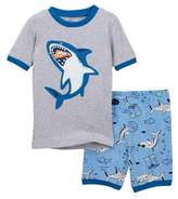 Petit Lem Shark Shorts Pajama Set (Baby Boys)